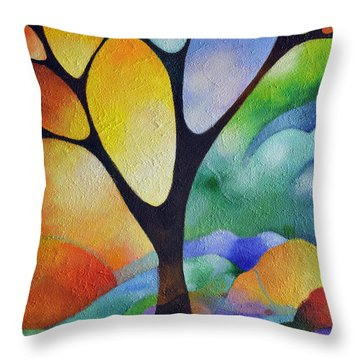Tree Of Joy Throw Pillow