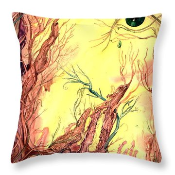 Throw Pillow featuring the painting Tree Of Knowledge by Mikhail Savchenko