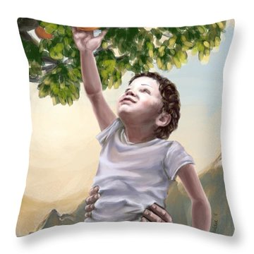Tree Of Life Throw Pillow by Tamer and Cindy Elsharouni