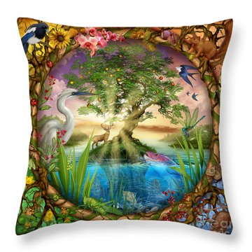 Tree Of Life Throw Pillow by Ciro Marchetti