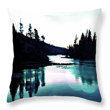 Tree Of Life Digital Paint Effect Throw Pillow