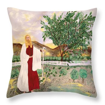Tree Of Life- Jesus Throw Pillow