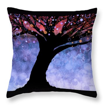 Tree Of Life Three Throw Pillow by Ann Powell