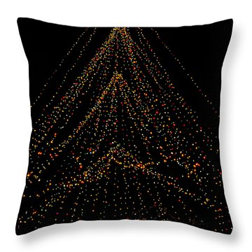 Tree Of Lights Throw Pillow
