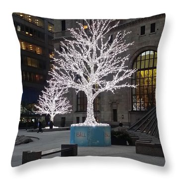 Tree Of Lights I Throw Pillow