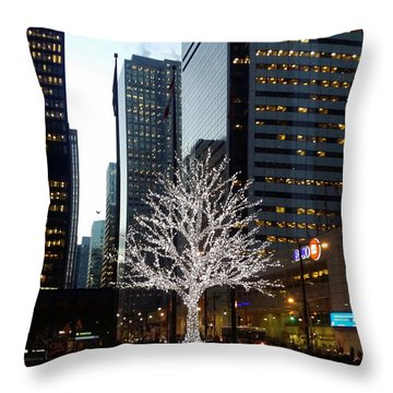 Tree Of Lights II Throw Pillow