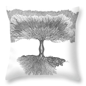 Tree Of Living Throw Pillow