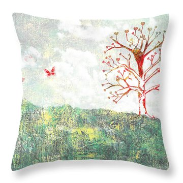 Tree Of Love Throw Pillow by Aged Pixel