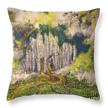 Tree Of Souls Throw Pillow