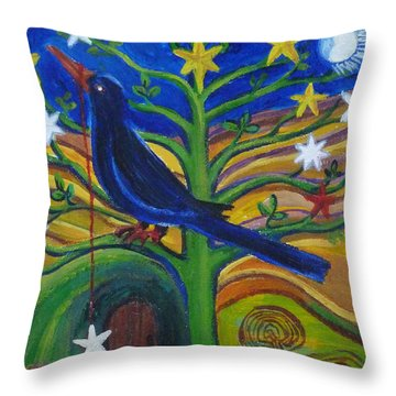 Tree Of Stars Throw Pillow