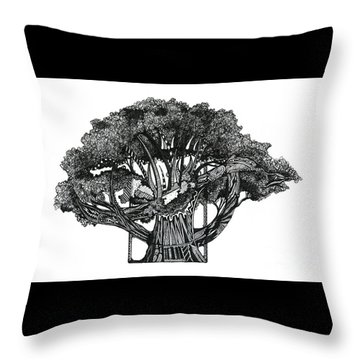 Tree Of Summer Throw Pillow