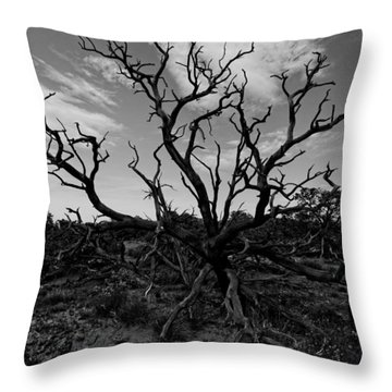 Tree Of The Dead Throw Pillow