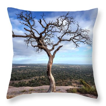 Tree On Enchanted Rock Throw Pillow