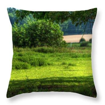 Tree On Summer Field Throw Pillow by Michal Bednarek