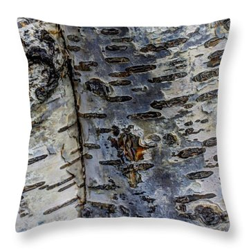 Tree People Throw Pillow by Heidi Smith
