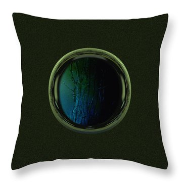Tree Porthole  Throw Pillow