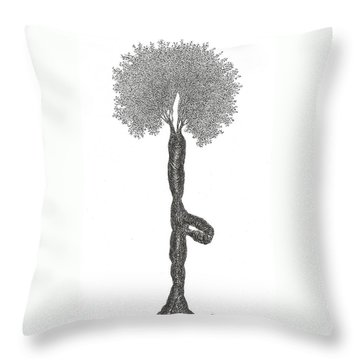 Tree Pose Throw Pillow