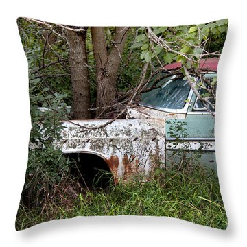 Tree-powered Desoto Throw Pillow by Rebecca Davis