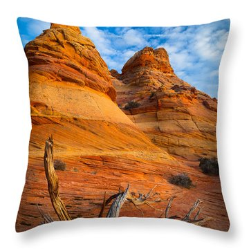 Tree Remnants Throw Pillow by Inge Johnsson