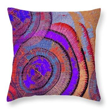 Tree Ring Abstract 2 Throw Pillow by Tony Rubino
