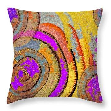 Tree Ring Abstract Horizontal Throw Pillow by Tony Rubino