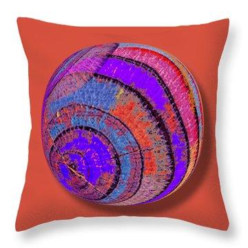 Tree Ring Abstract Orb Throw Pillow by Tony Rubino