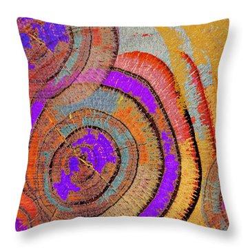 Tree Ring Abstract Throw Pillow by Tony Rubino