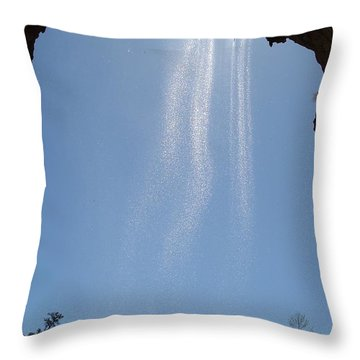 Throw Pillow featuring the photograph Tree Root Run-off by Kerri Mortenson