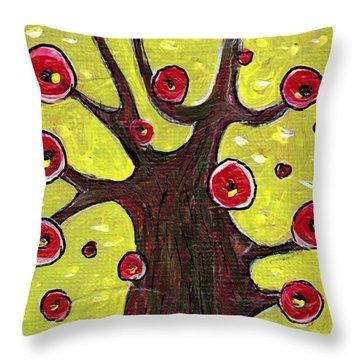 Tree Sentry Throw Pillow by Anastasiya Malakhova