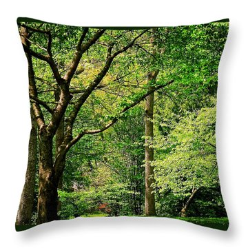 Tree Series 3 Throw Pillow by Elf Evans