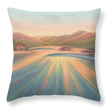 Tree Shadows Sunset Tasmania Throw Pillow