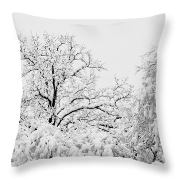 Tree Snow Throw Pillow