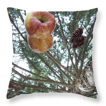 Tree Spiral Throw Pillow