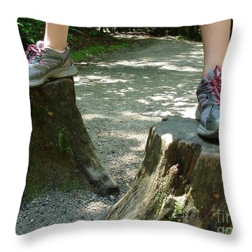 Tree Stump Stilts Throw Pillow