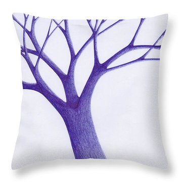 Tree - The Great Hand Of Nature Throw Pillow by Giuseppe Epifani