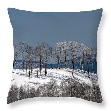 Tree Topper Hill Throw Pillow by John Haldane