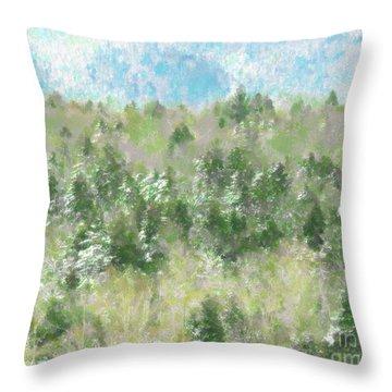 Tree Tops Throw Pillow