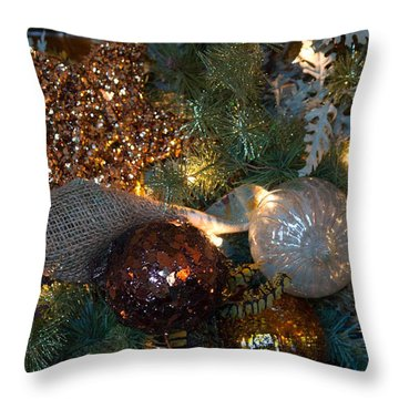 Tree Trimmings Throw Pillow by Patricia Babbitt