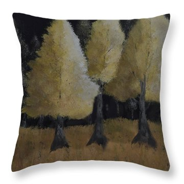 Tree Trio Throw Pillow by Dick Bourgault