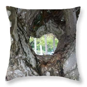 Throw Pillow featuring the photograph Tree View by Rafael Salazar