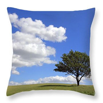 Tree With Clouds Throw Pillow