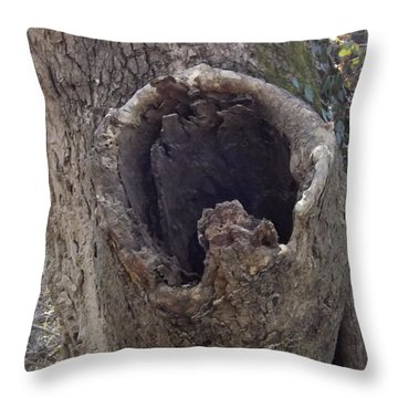 Treehole Throw Pillow