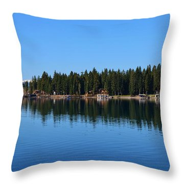 Treeline Lake Tahoe Throw Pillow