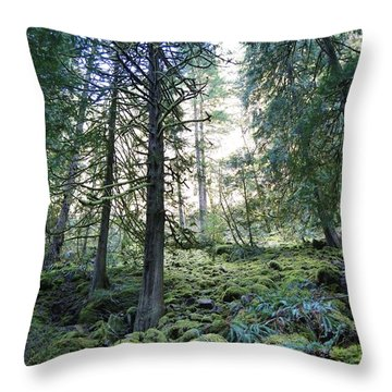 Throw Pillow featuring the photograph Treequility by Athena Mckinzie