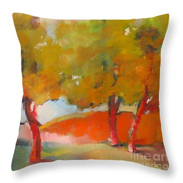Trees #5 Throw Pillow by Michelle Abrams