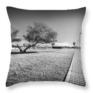 Throw Pillow featuring the photograph Trees And Paths by Gary Gillette