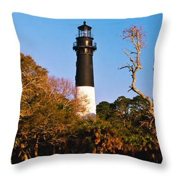 Hunting Island State Park Throw Pillows