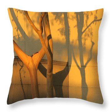 Trees At Wall Throw Pillow