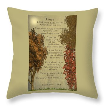 Trees Throw Pillow by David Dehner