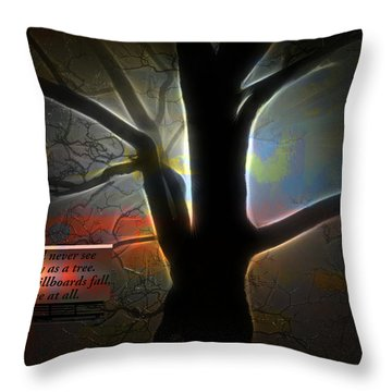 Trees - Featured In 'comfortable Art' Group Throw Pillow by EricaMaxine  Price